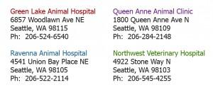 Seattle Veterinary Associates Address